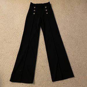 Fashion Nova Black Pants with Buttons